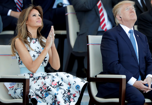 When will Melania Trump visit her home country Slovenia?