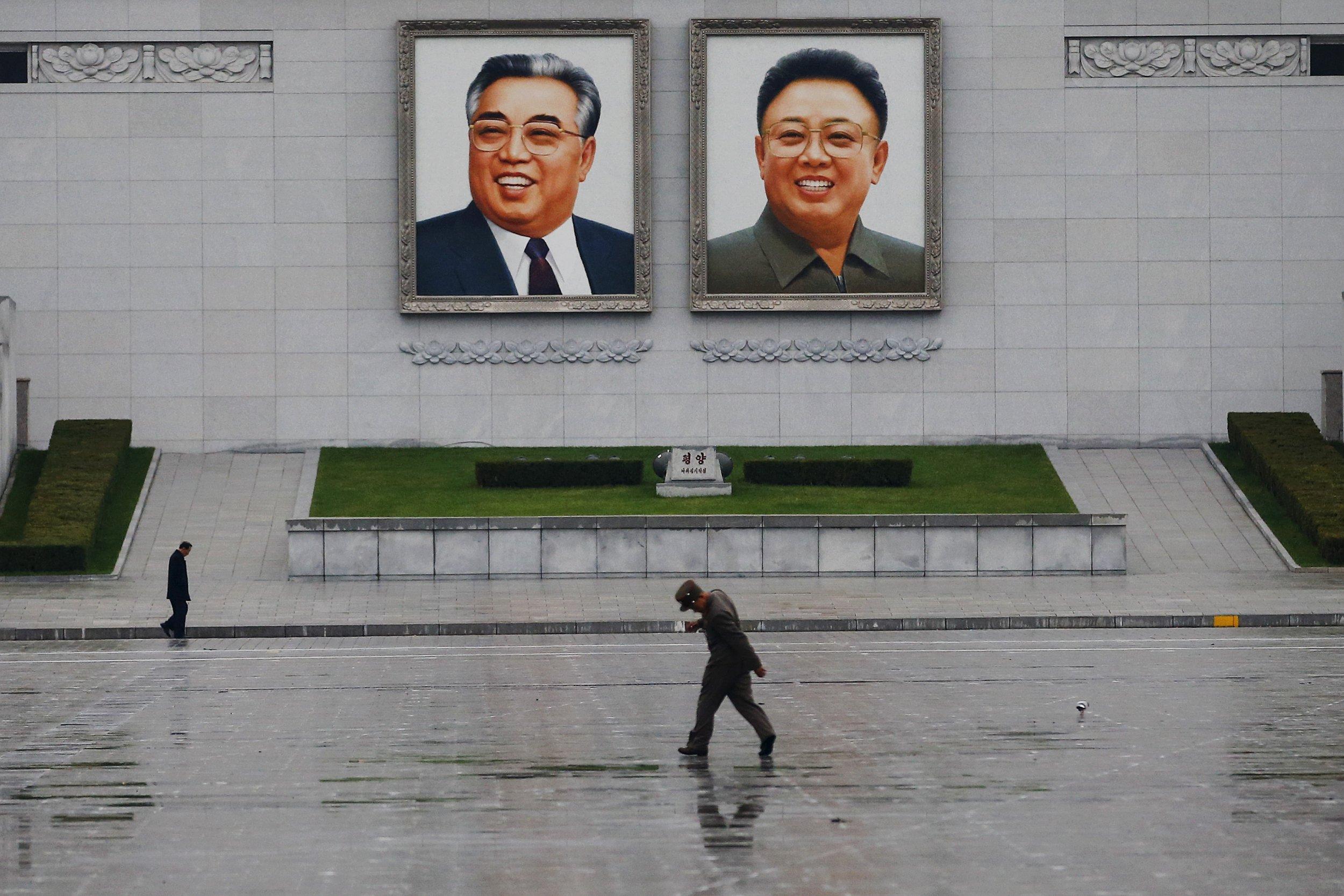 Portraits of Kim Il-Sung and Kim Jong-Il