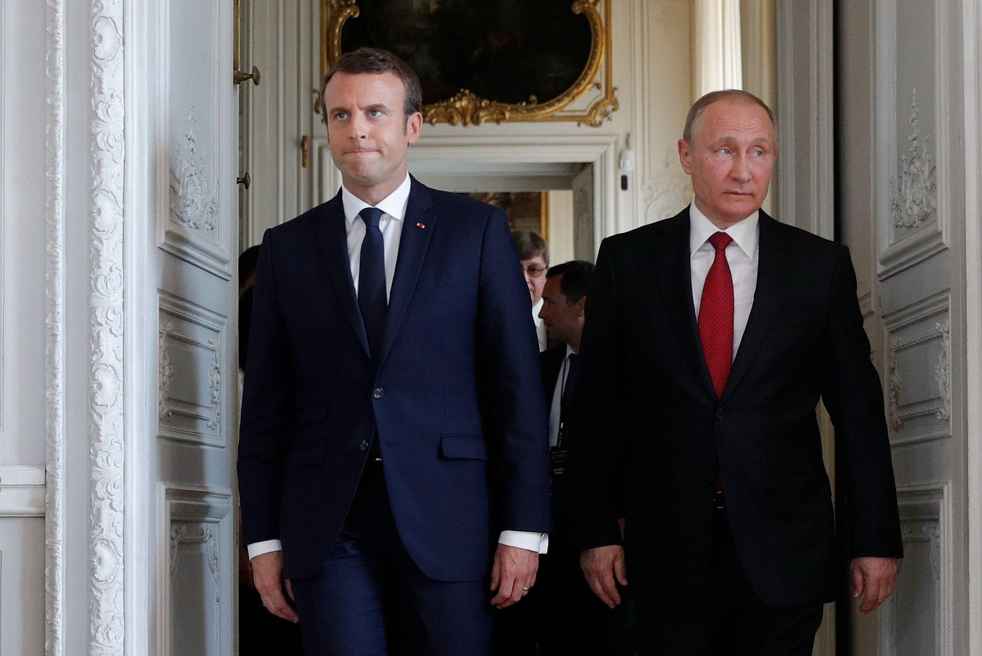 Macron and Putin