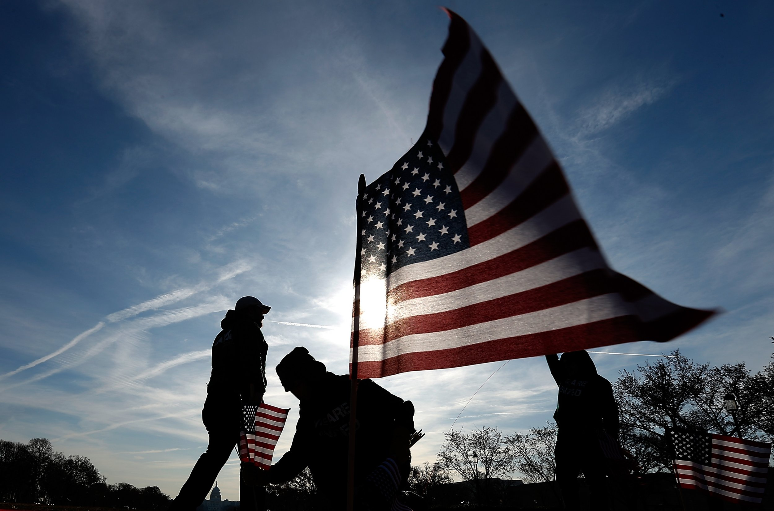 U.S. veterans flags