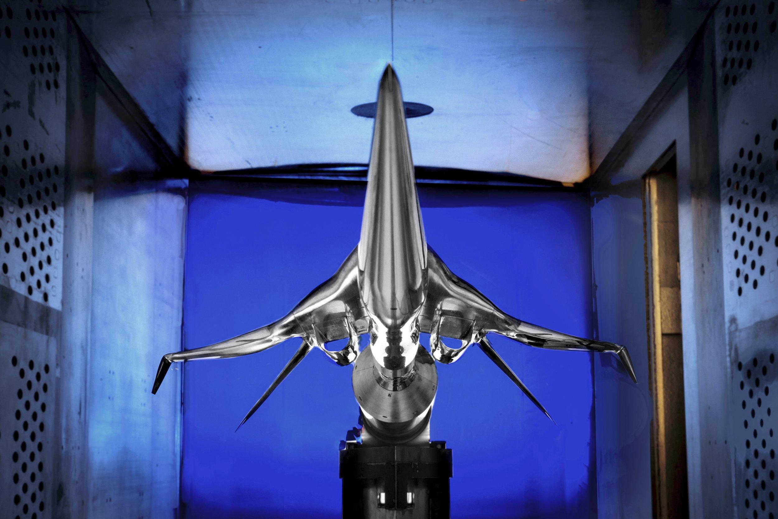 Boeing design in NASA tunnel