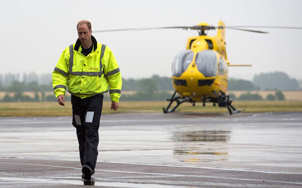 Prince William served his last duty as a paid pilot for the EAAA
