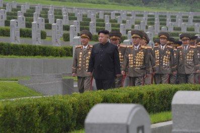 Kim Jong Un rain