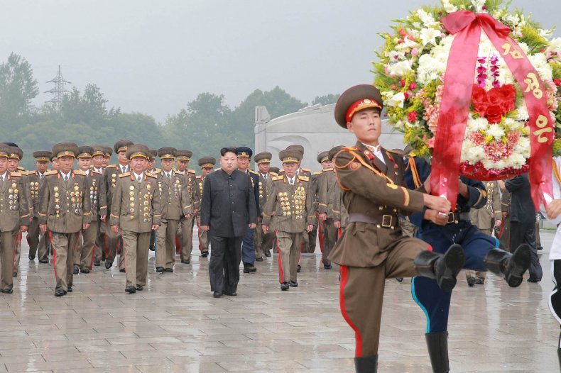 Kim Jong Un wreath