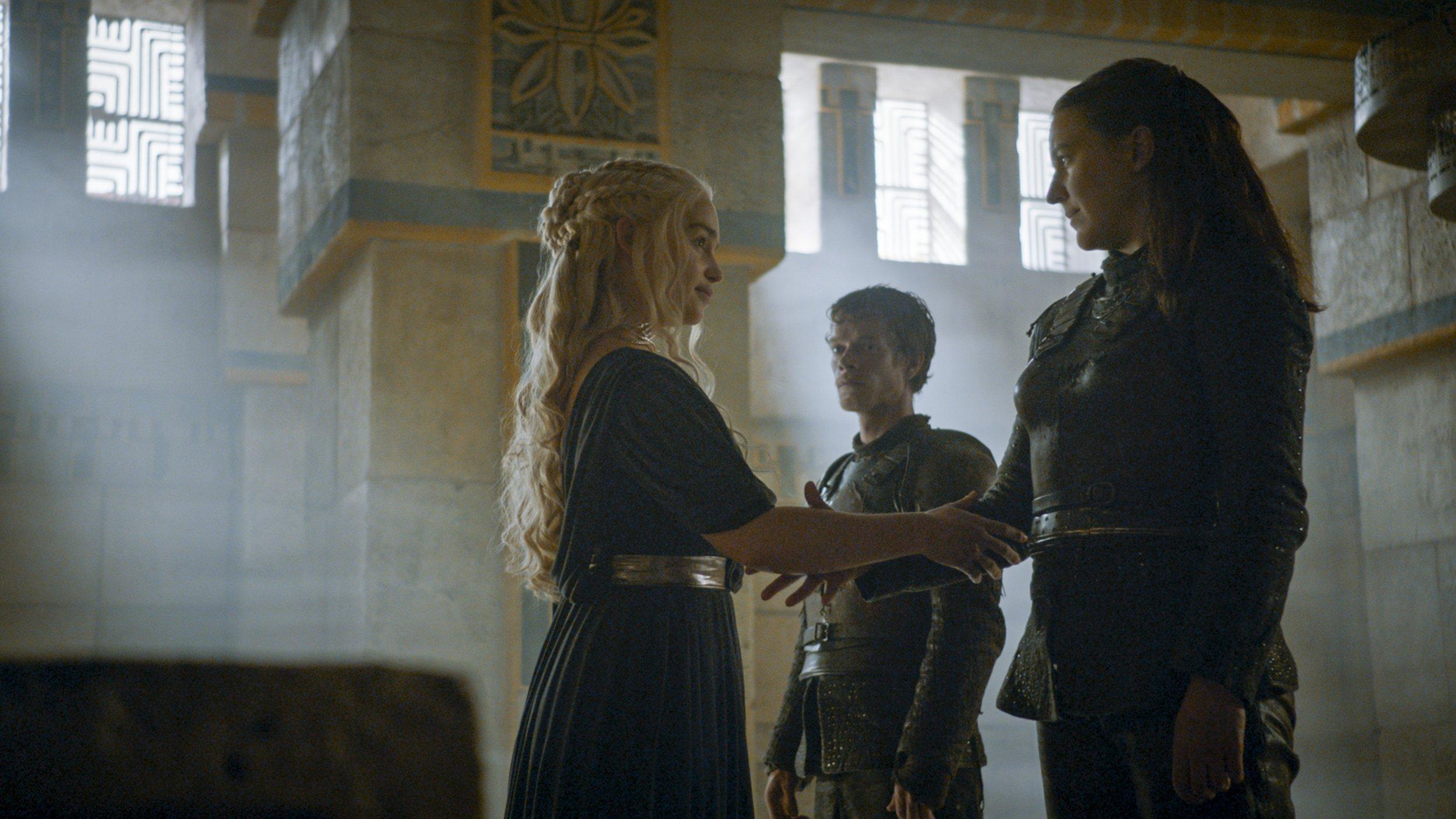 Yara Greyjoy and Daenerys Targaryen