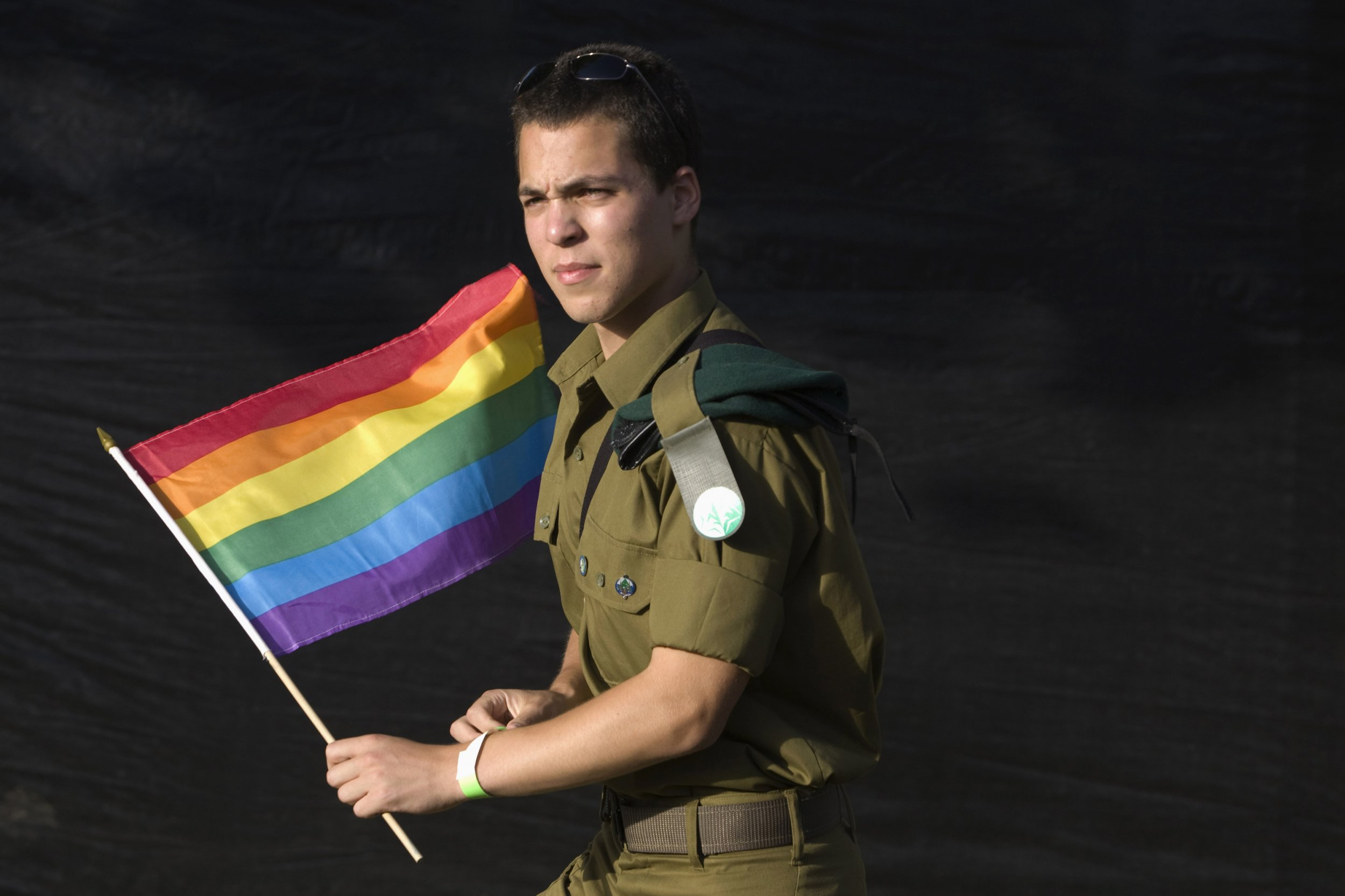 Israeli soldier takes part in the gay pride parade