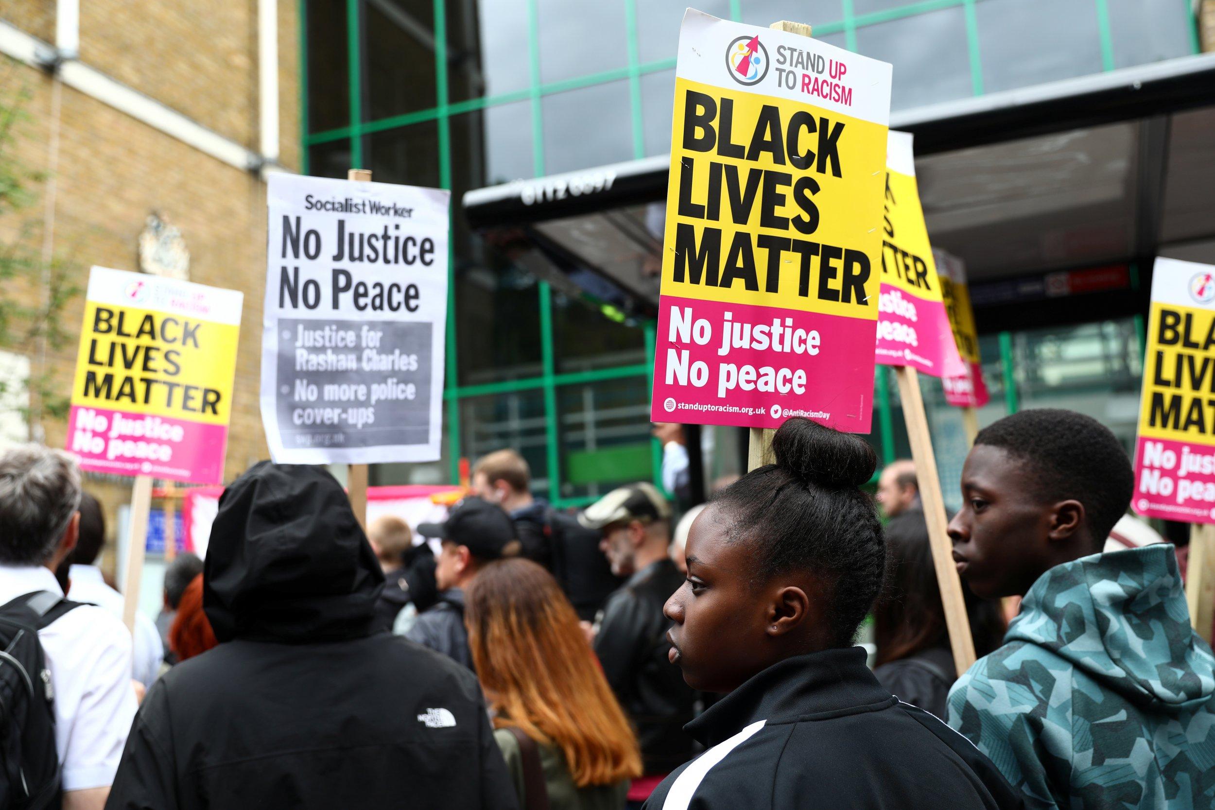 Rashan Charles protests