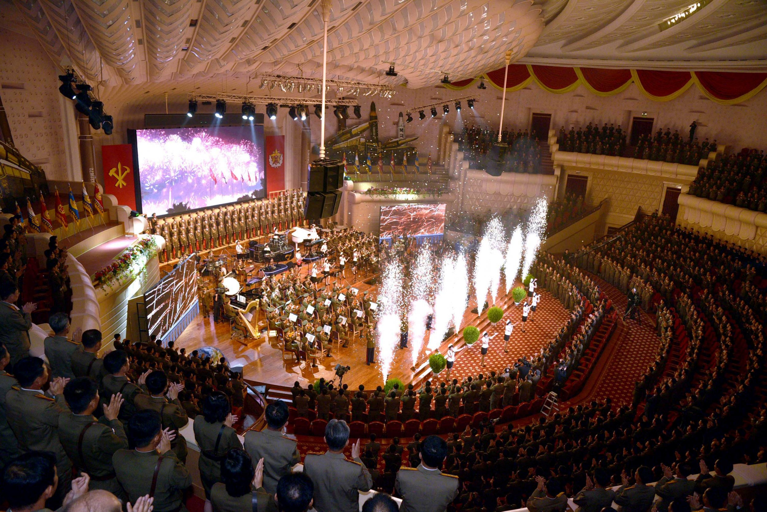 North korea banquet celebration