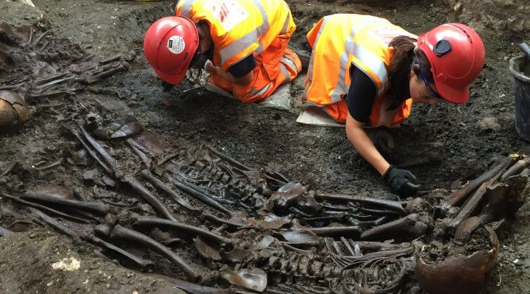 excavation of bedlam burial ground