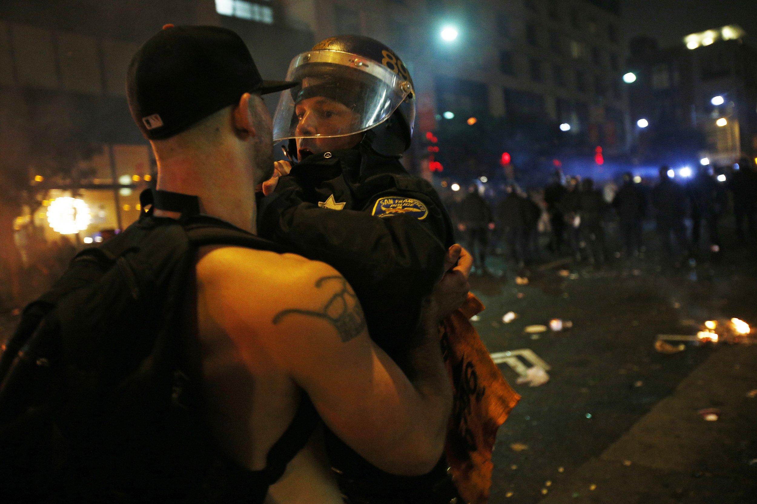 Police & Baseball Fan