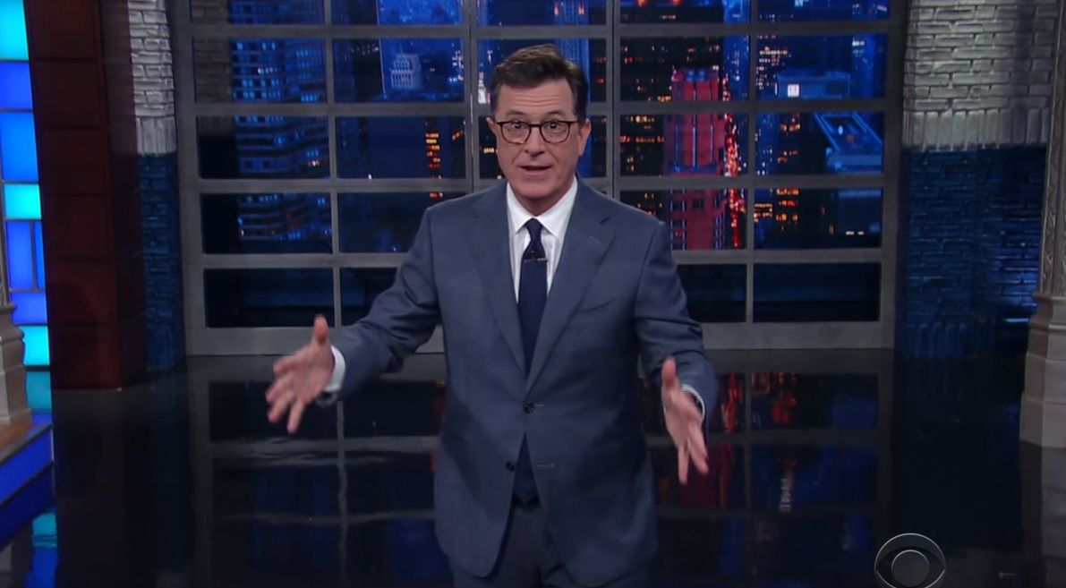 Stephen Colbert jokes about Scaramucci