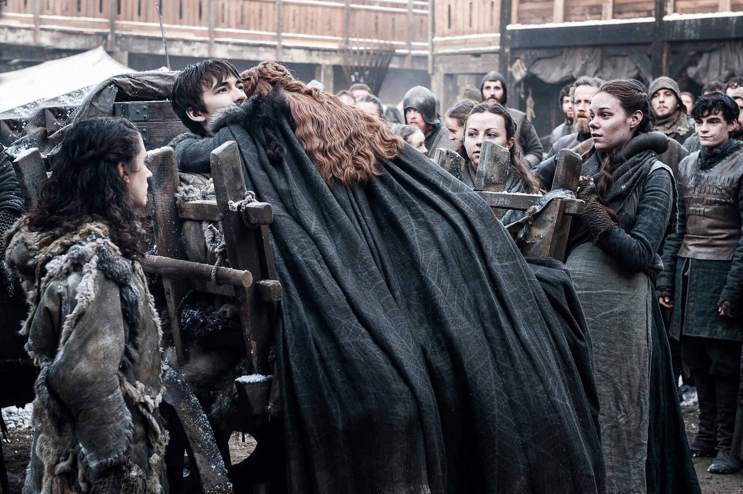 Sansa and Bran Stark reunite