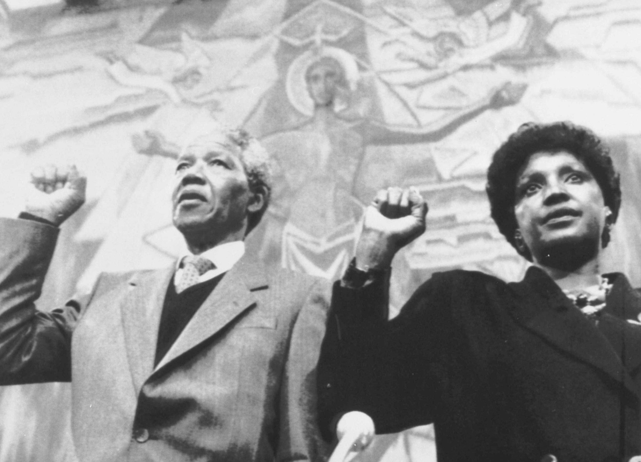 Nelson Mandela and his wife, Winnie Mandela