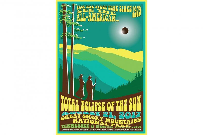 8-1-17 Eclipse Poster Great Smoky Mountains (1)