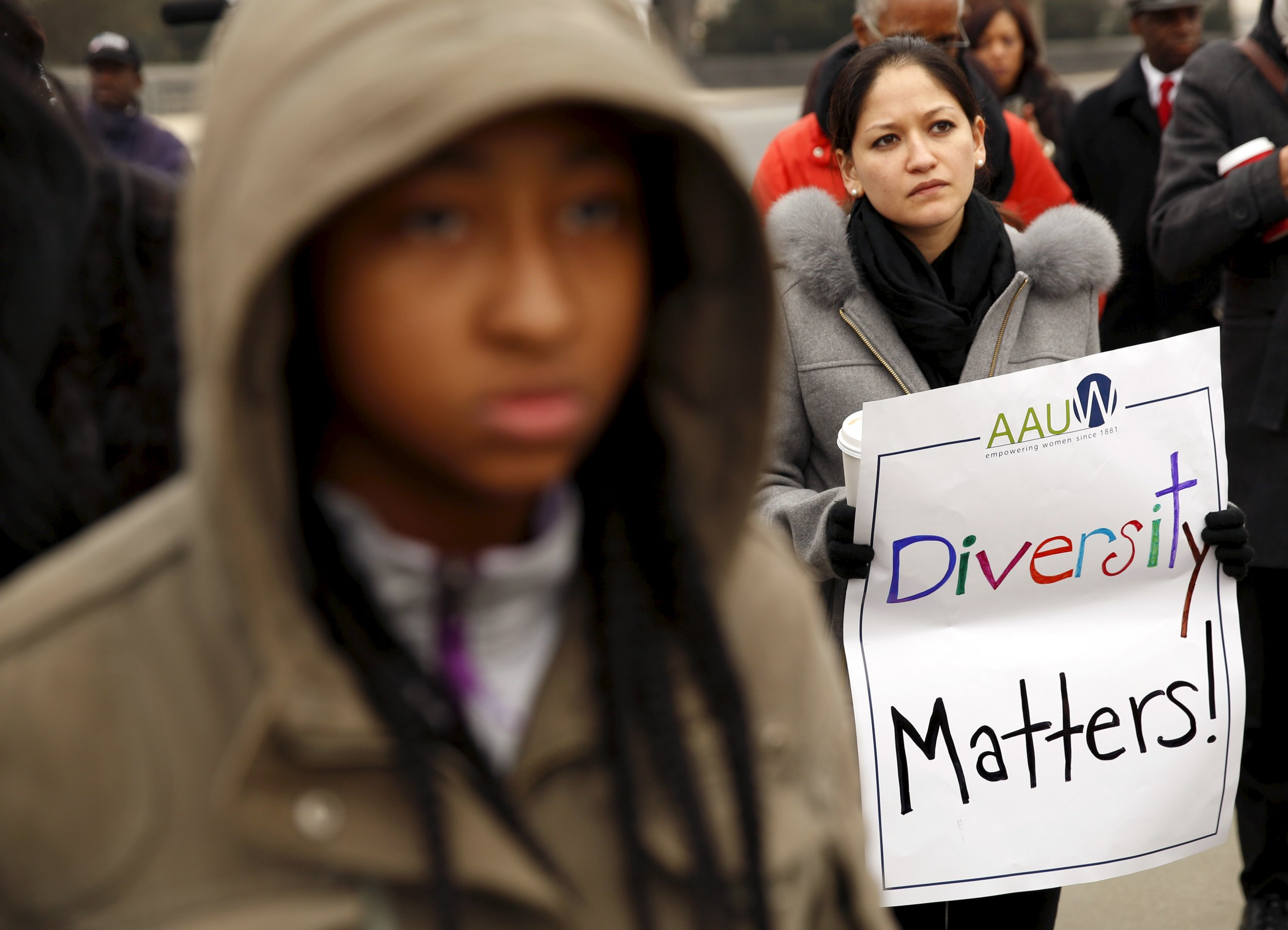 Rally at Supreme Court (affirmative action)