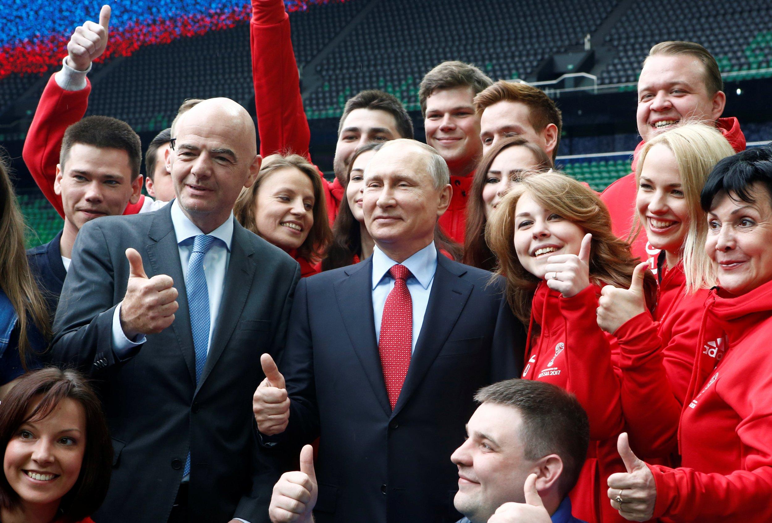 Putin and Infantino