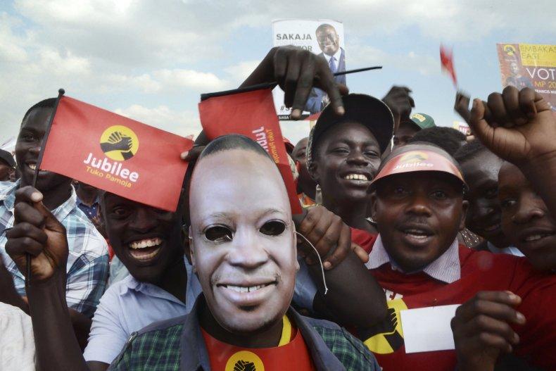 Kenyatta supporters