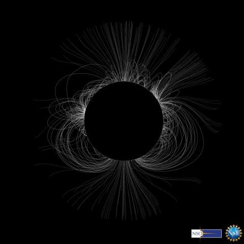 Total solar eclipse corona