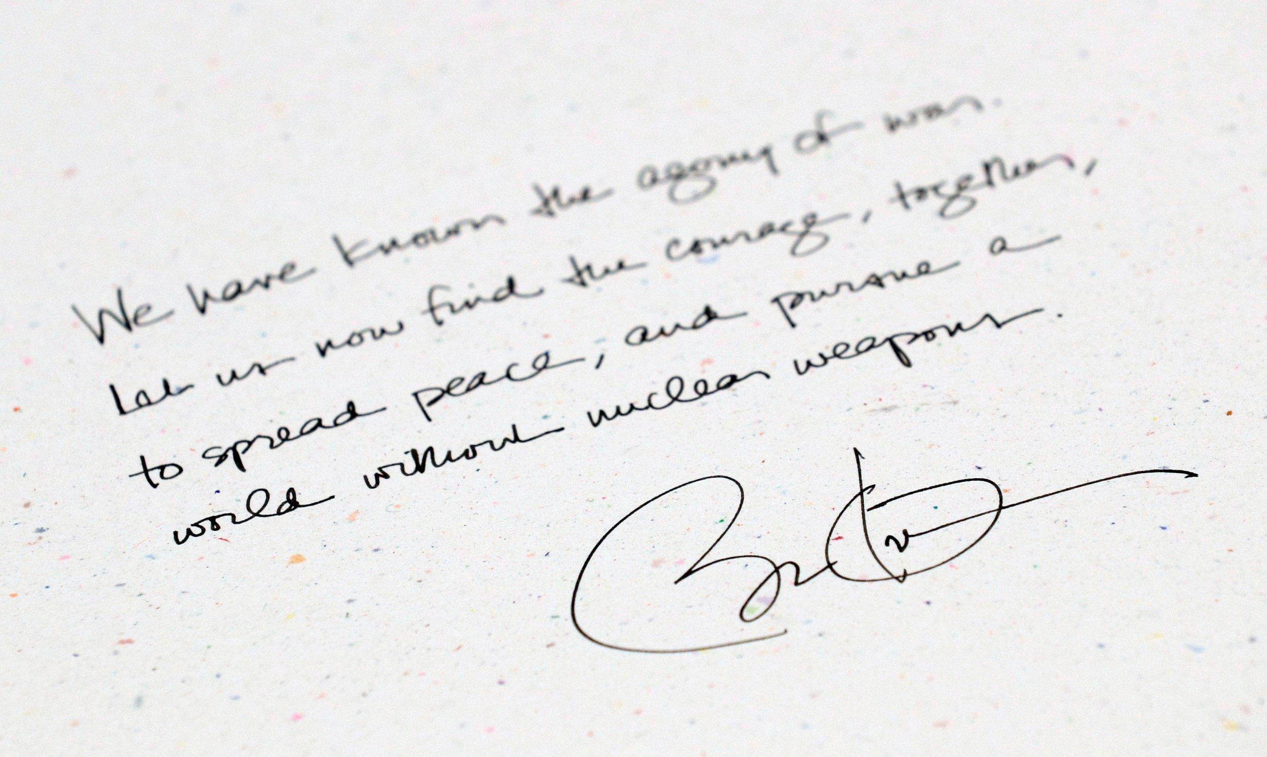 Obama hiroshima memorial