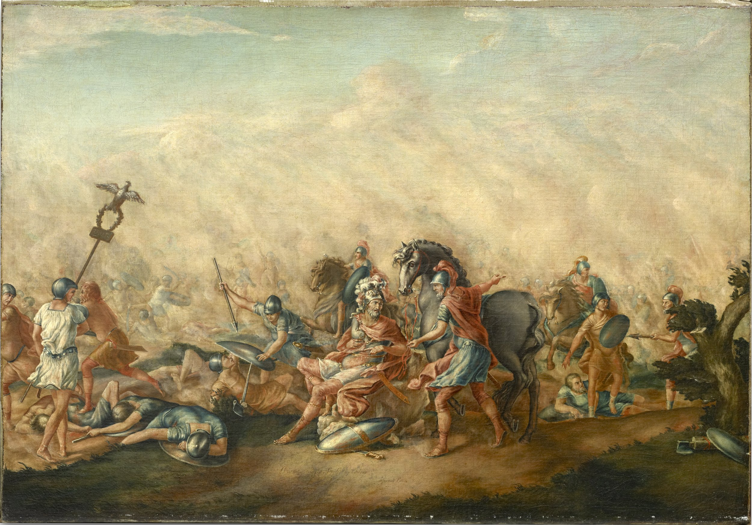 The Death of Paulus Aemilius at the Battle of Cannae
