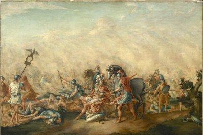 The Death of Paulus Aemilius at the Battle of Cannae