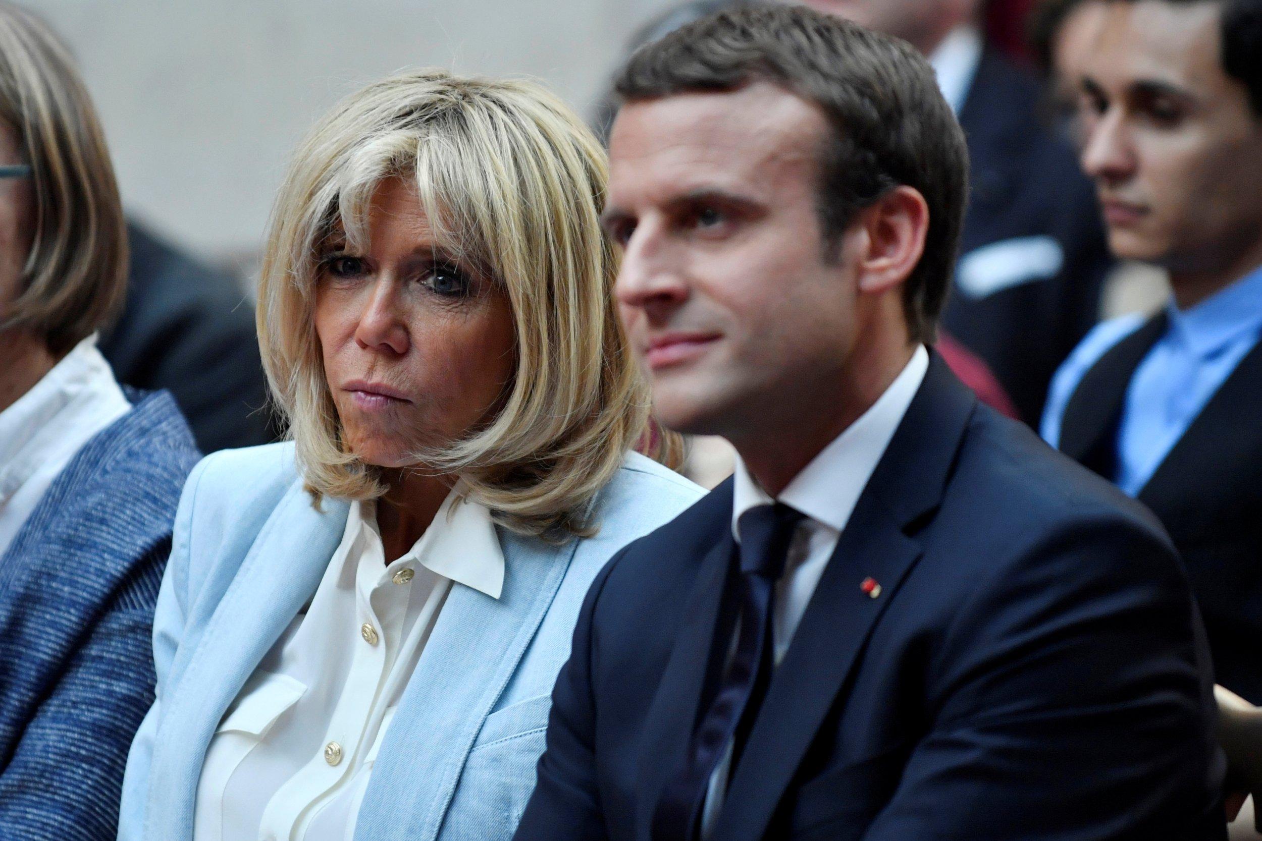 Brigitte and Emmanuel Macron