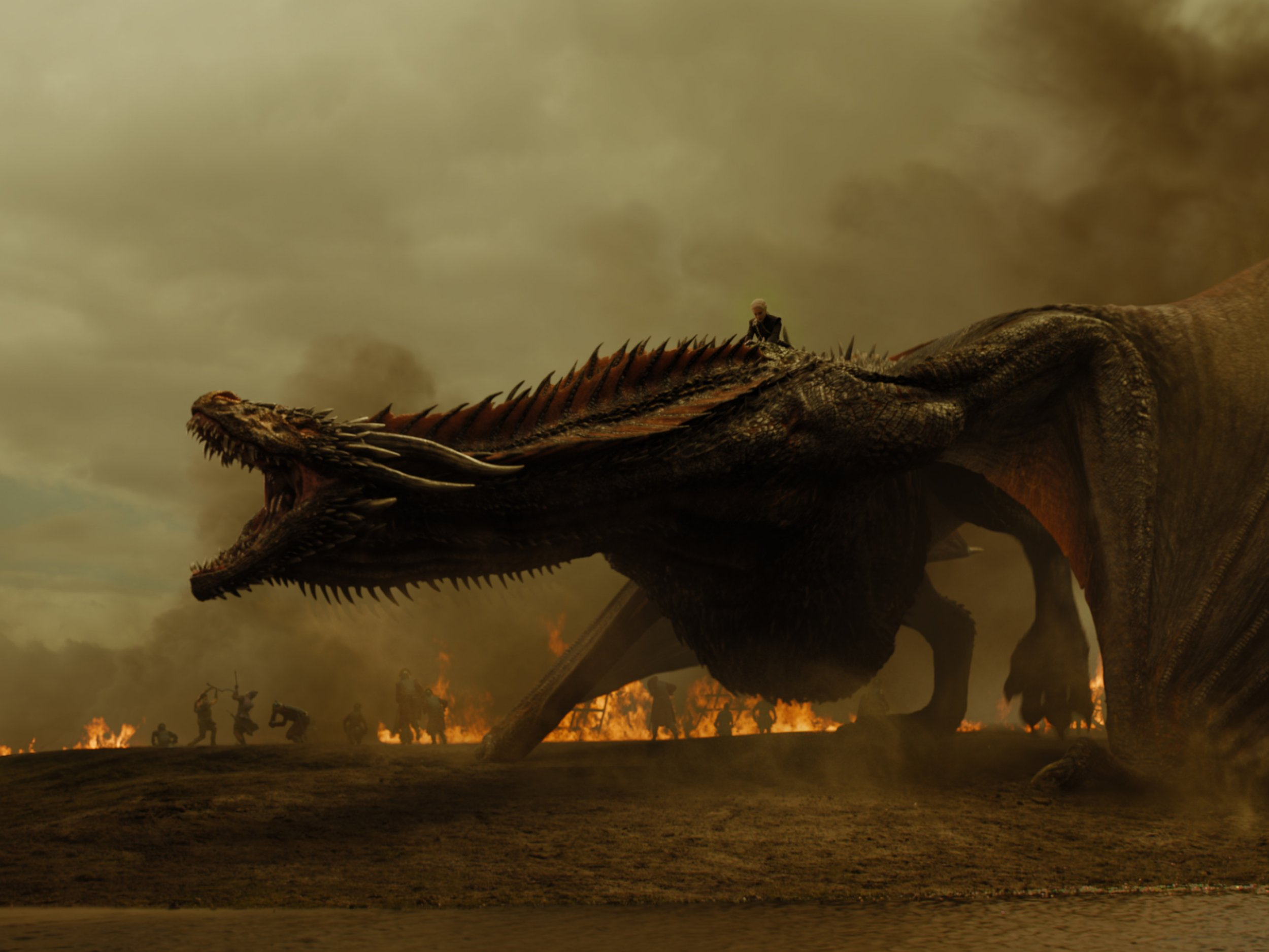 Drogon in The Spoils of War