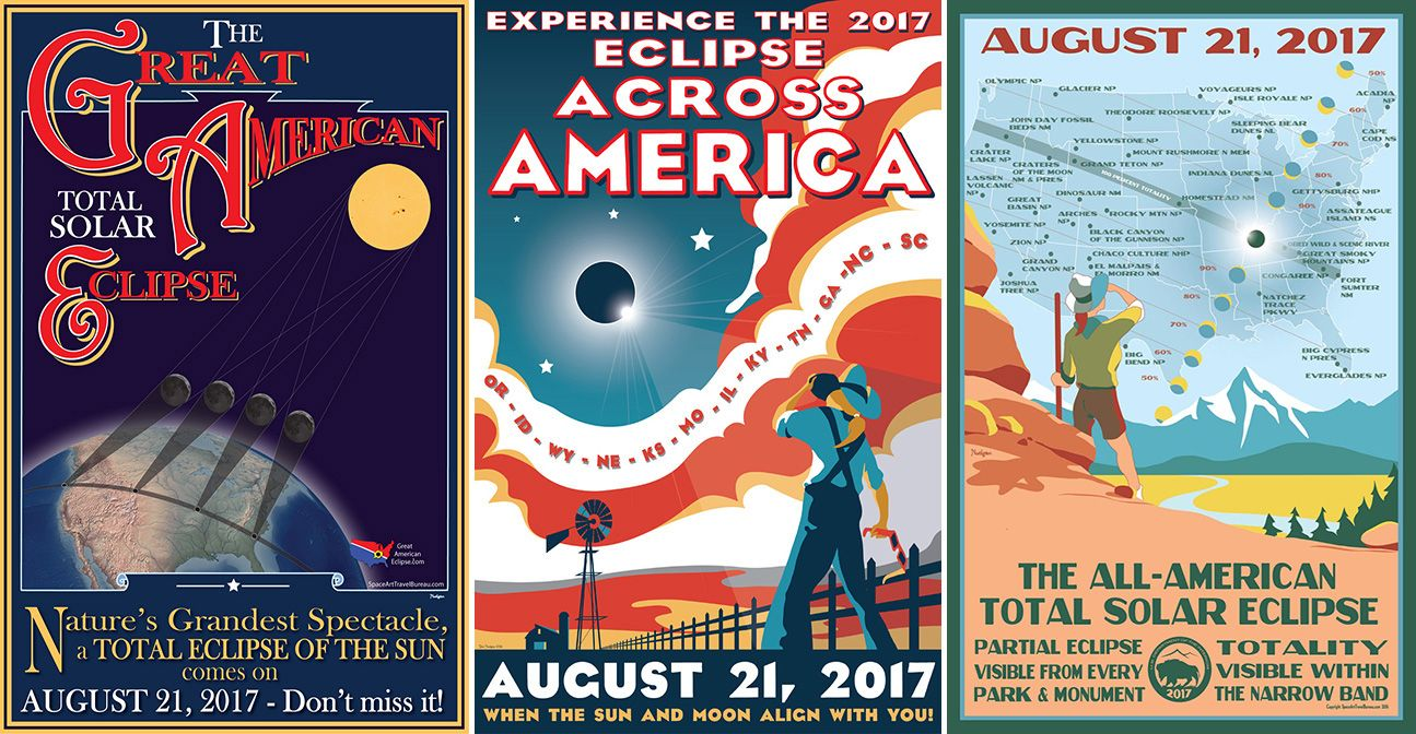 8-1-17 Total Solar Eclipse Posters