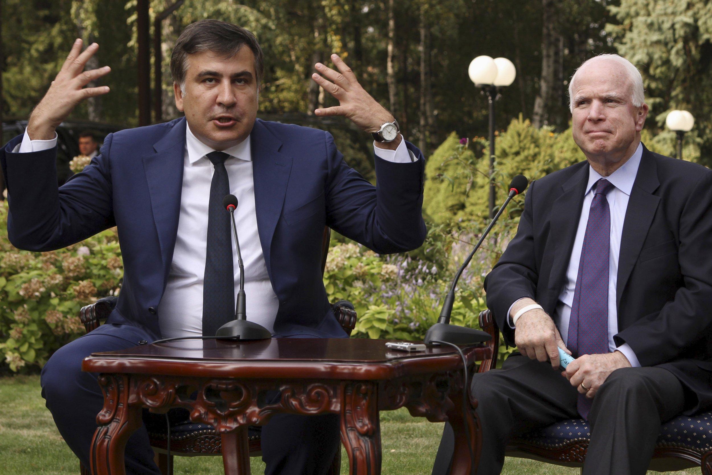 Mikheil Saakashvili and John McCain