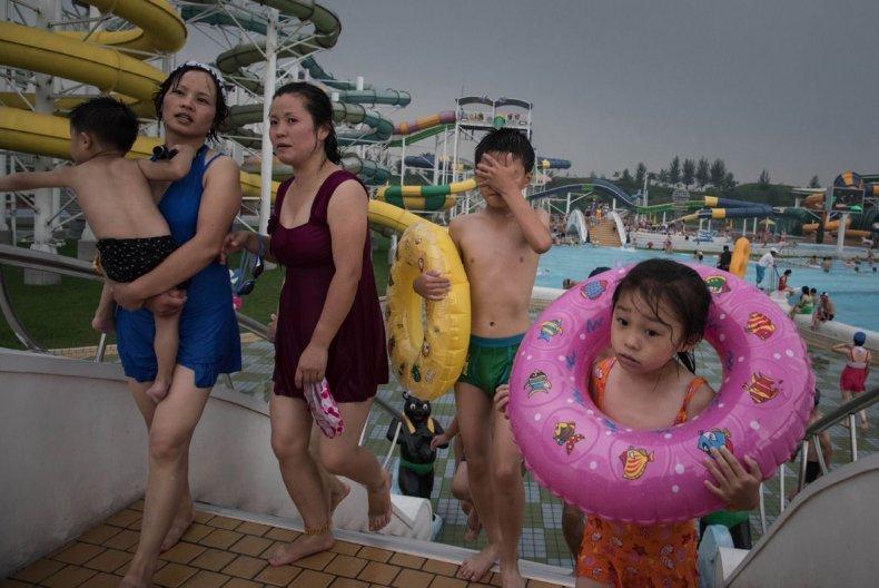 Pyongyang swimmers, North Korea
