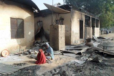 Boko Haram destroyed home