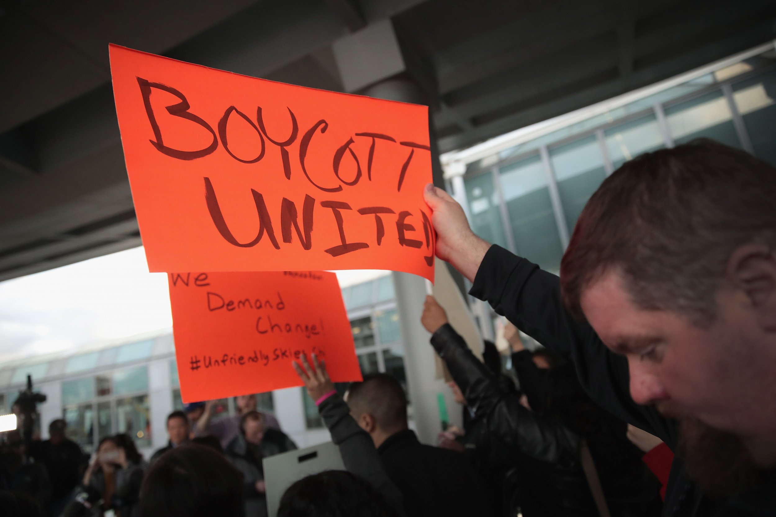 United Airlines protest