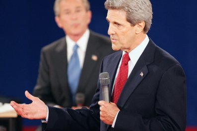 John Kerry George Bush