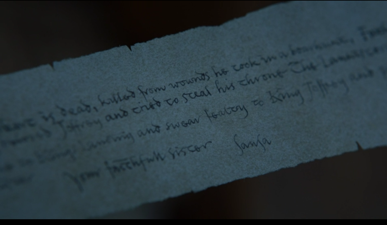 Game of Thrones': What Sansa Stark Said in the Letter Discovered
