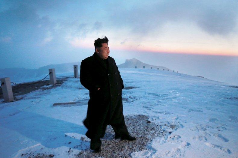 Kim on Mt Paektu