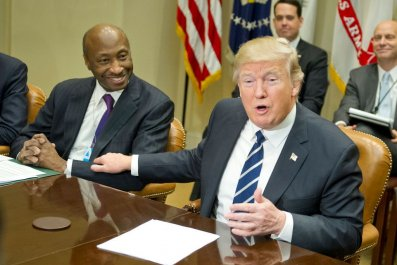 President Donald Trump meets with Kenneth C. Frazier