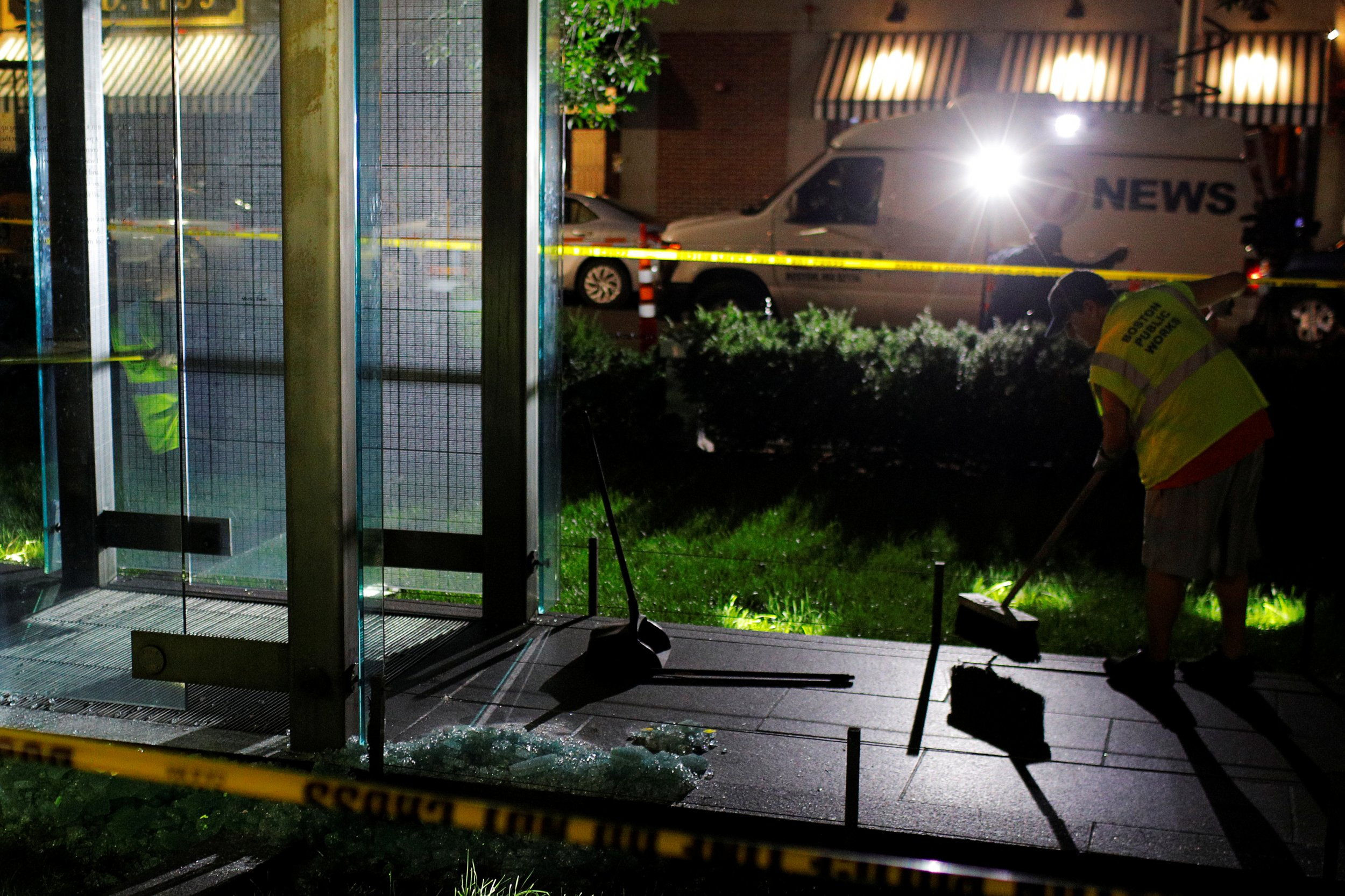 Boston Holocaust memorial vandalized