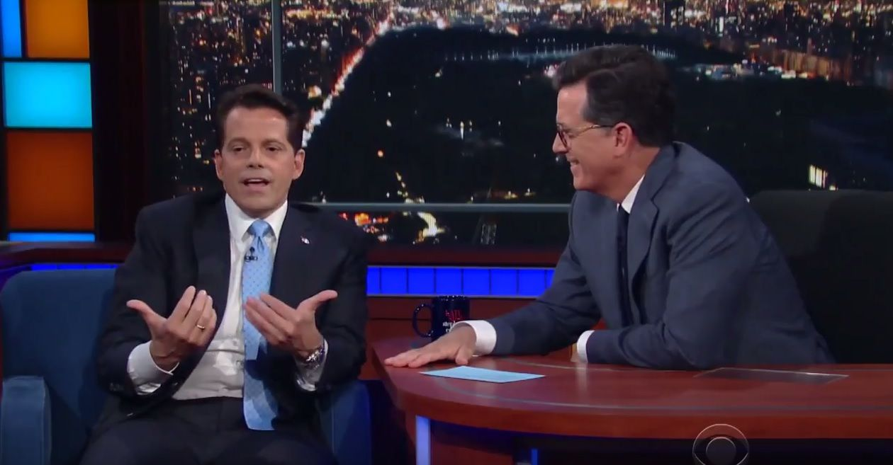 Scaramucci on Late Show with Stephen Colbert