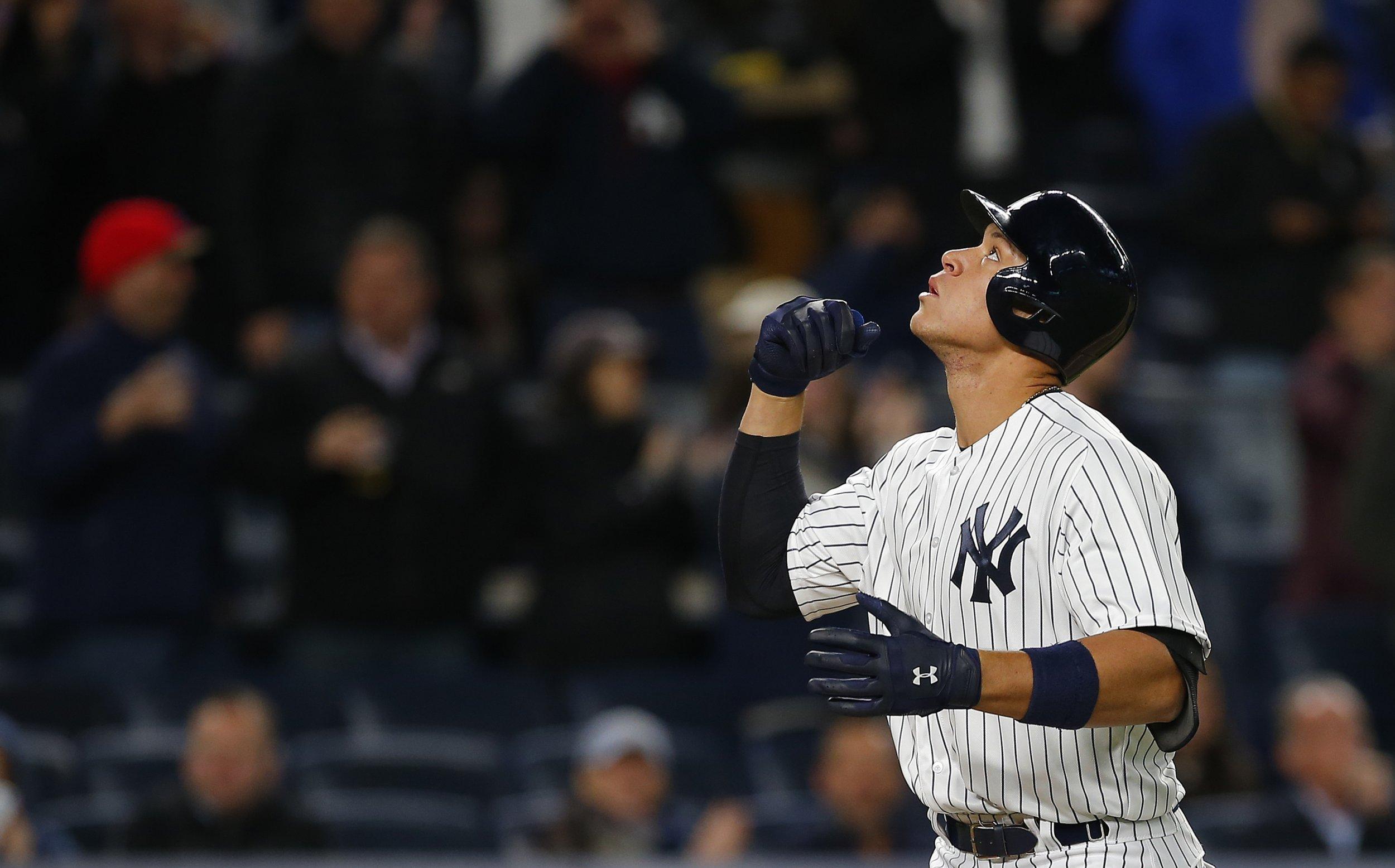 New York Yankees outfielder Aaron Judge.