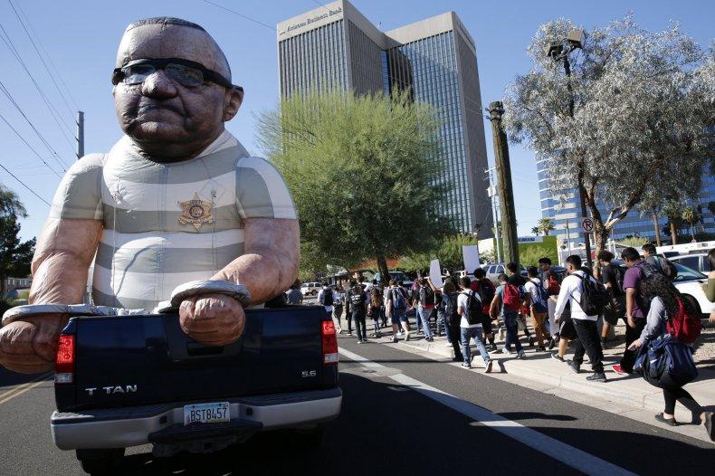 Joe Arpaio effigy