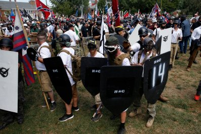 White nationalists in Charlottesville, Virginia