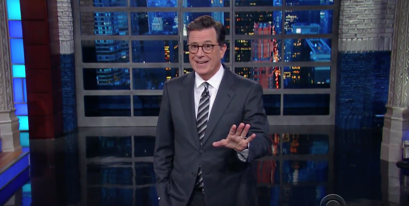 Colbert on Trump press conference