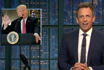 Seth Meyers reacts to Trump press conference