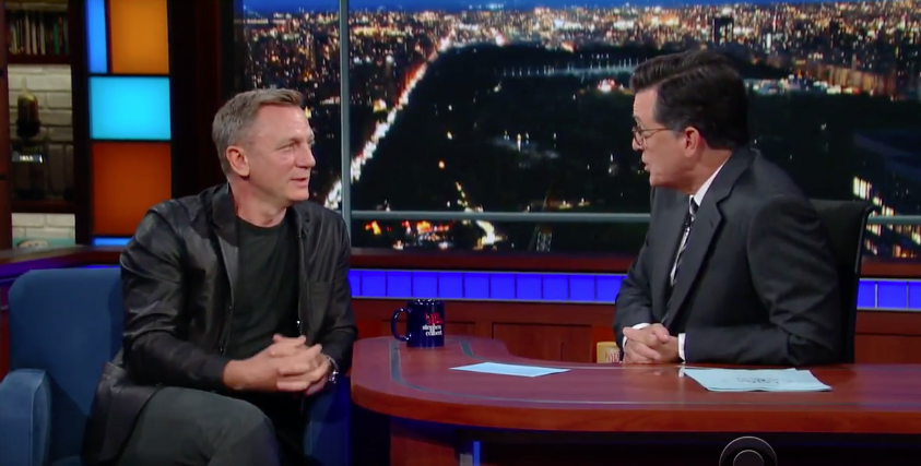 Daniel Craig confirms Bond return to Stephen Colbert