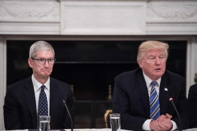 Tim Cook with Trump