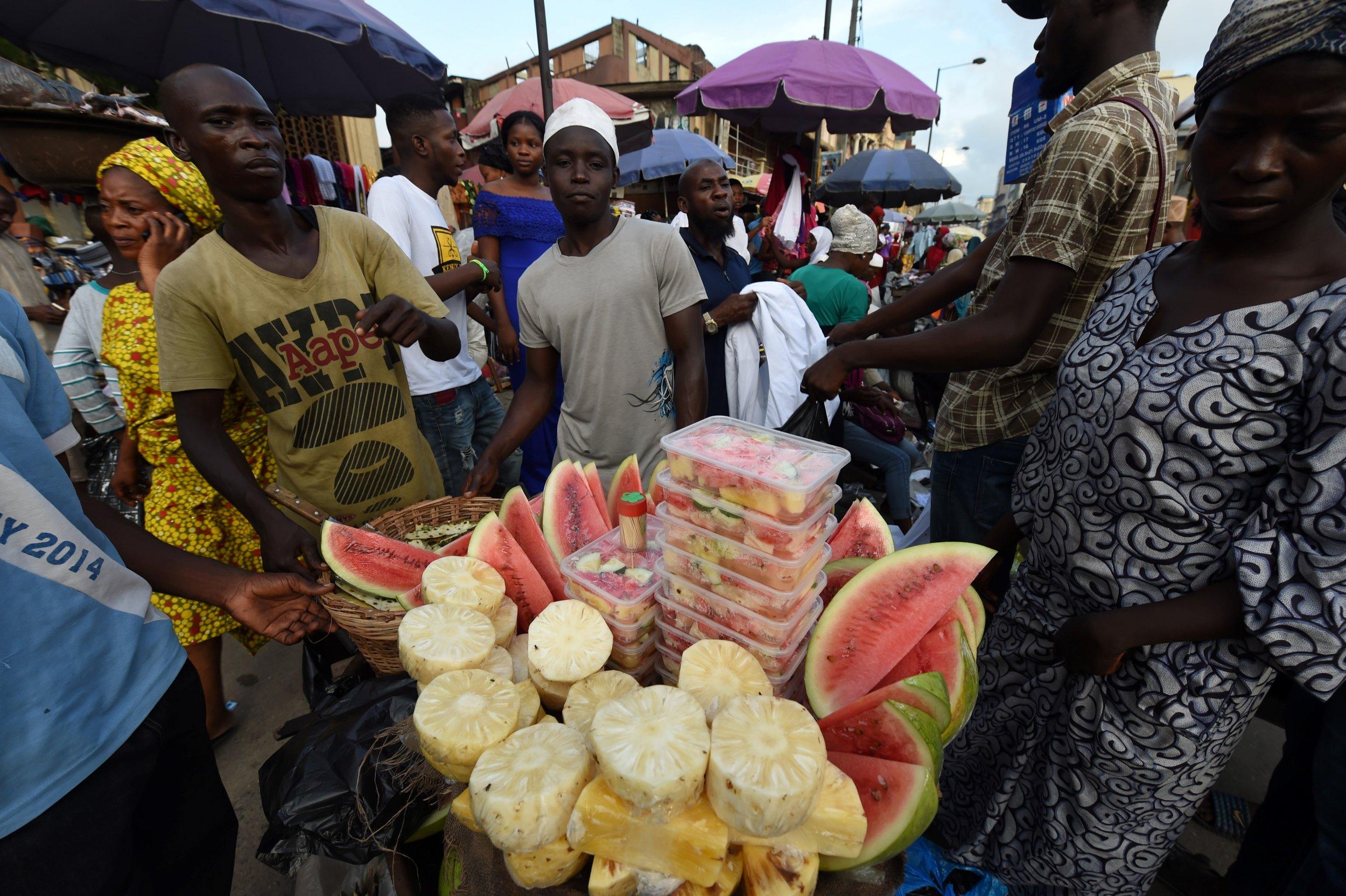 Lagos fruit vendors