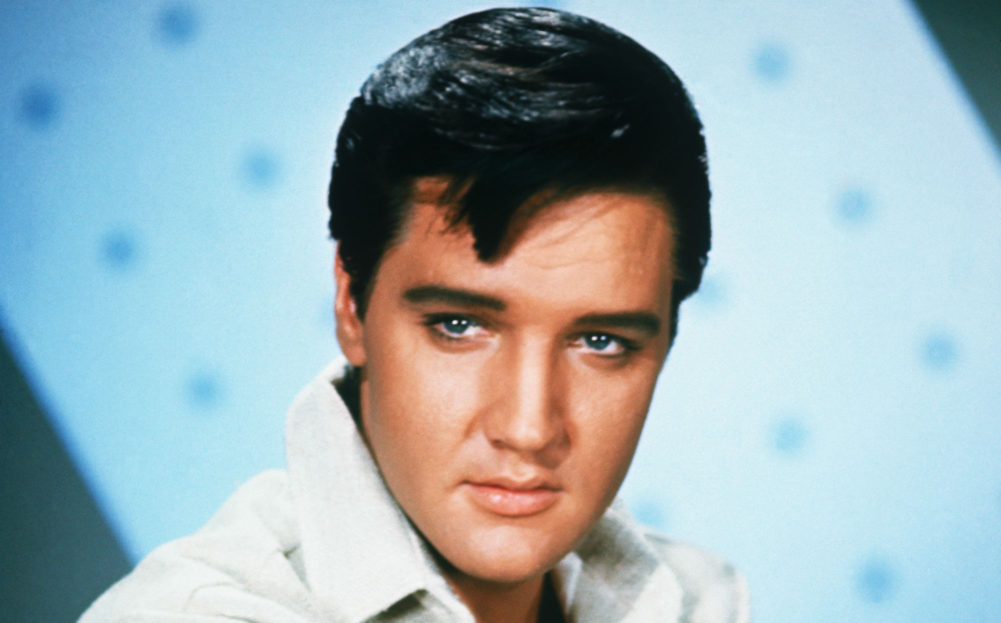 Elvis Presley (1935-1977), American rock 'n' roll legend.