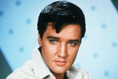 Elvis Presley (1935-1977), American rock 'n' roll legend.