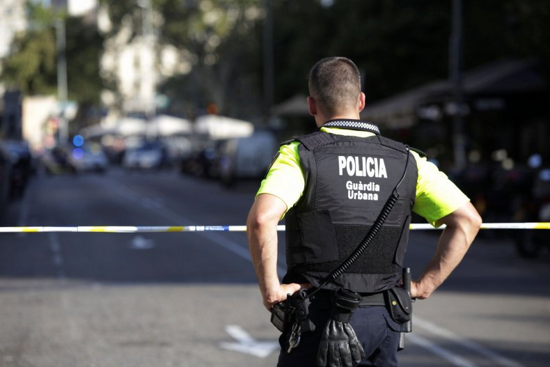 Spain police cordon image file
