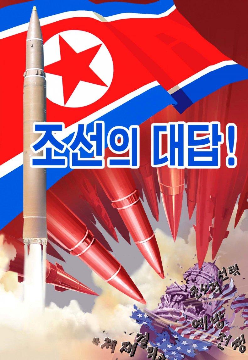 NK Propaganda U.S. Capitol